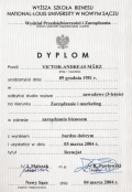 Bachelor Diploma Dyplom Bachelor Degree Diploma School of Business - National-Louis University Management and Marketing Business Administration